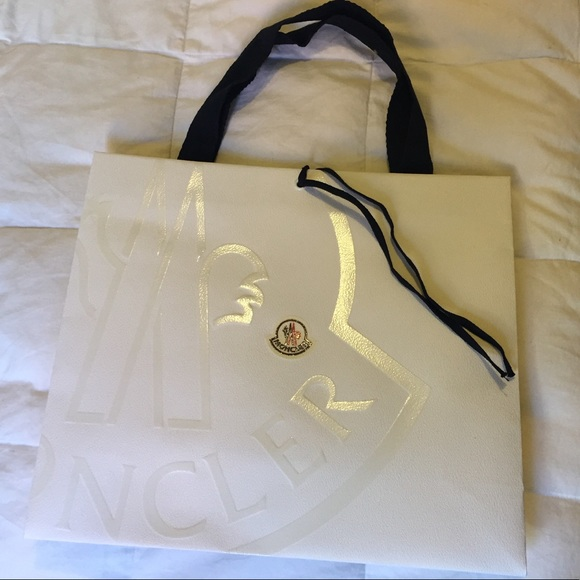 Moncler shopping bag with raised logo